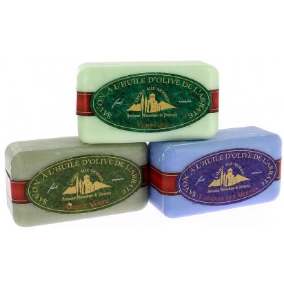 Coffret de 3 savons : Lavandin - Argile verte - Verveine de Douche