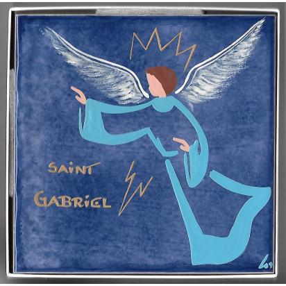 Céramique de Saint Gabriel, l'Ange Gabriel de Les Saints-Patrons