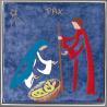 La Nativité / LA SAINTE FAMILLE de Céramiques peintes