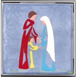 Céramique de La Sainte famille de Nazareth, peinte à la main