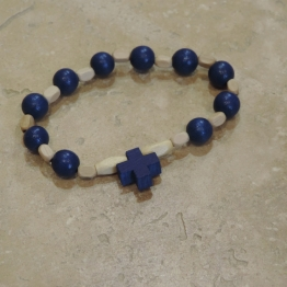 Dizainier en bois bleu de Croix & Chapelets