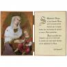 Diptyque religieux de La Vierge à l'Enfant avec une citation de saint Augustin