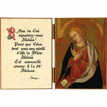 Diptyque religieux de La Vierge de l'Annonciation de Tadeo Di Bartoldo