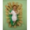 Enfant Jésus en cire de 6 cm
