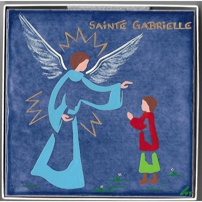 Céramique Sainte Gabrielle, peinte à la main de Céramiques peintes
