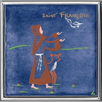 Céramique de Saint François d'Assise de Les Saints-Patrons