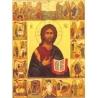 ICONE LE CHRIST ET LES 7 SACREMENTS - XX° - de Icônes contemporaines