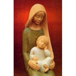 REPRODUCTION VIERGE ET ENFANT - LE PAPE - XX° - TAILLE CARTE POSTALE de Icônes contemporaines