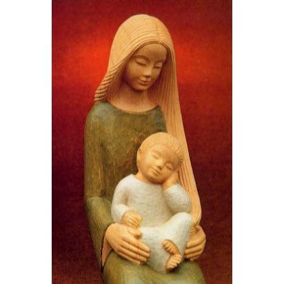 REPRODUCTION VIERGE ET ENFANT - LE PAPE - XX° - 13*20.5cm de Icônes contemporaines