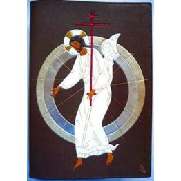LISEUSE Christ Ressuscité avec 2 mandorles