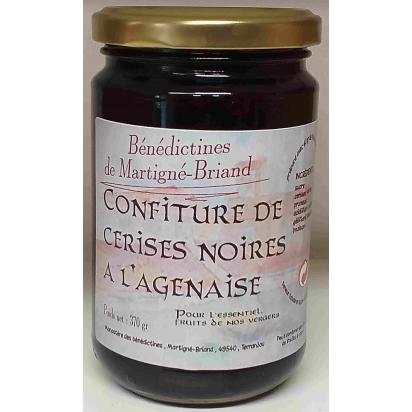 CONFITURE DE CERISES NOIRES A L'AGENAISE, 370 gr de Confitures & Miels