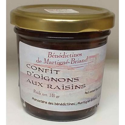 CONFIT D'OIGNONS AUX RAISINS, 140 gr de Epices & condiments