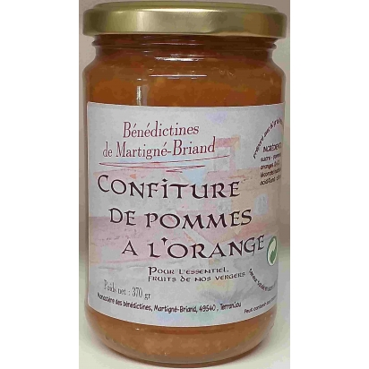 CONFITURE DE POMME A L'ORANGE, 370 gr de Confitures & Miels