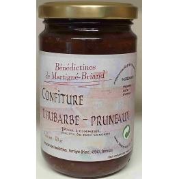 CONFITURE DE RHUBARBE PRUNEAUX, 370 gr de Confitures & Miels
