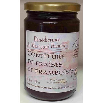 CONFITURE DE FRAISES - FRAMBOISES, 370 gr de Confitures & Miels