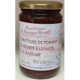CONFITURE DE POMMES, PRUNES SAUVAGES A LA BADIANE, 370 gr