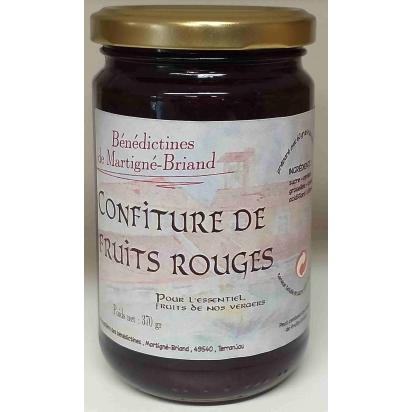 CONFITURE DE FRUITS ROUGES, 370 gr de Confitures & Miels