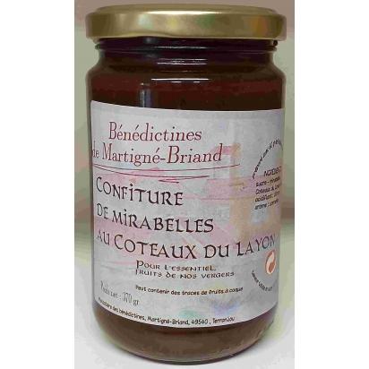 CONFITURE DE MIRABELLES au Coteaux du Layon, 370 gr de Confitures & Miels