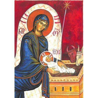 3 cartes de Noël enluminés par une moniale de l'Abbaye de Jouques de Noël