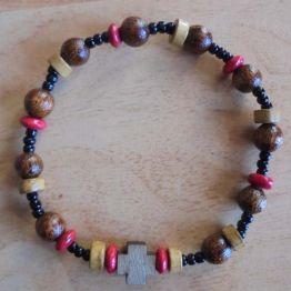 Bracelet dizainier perles bois variées