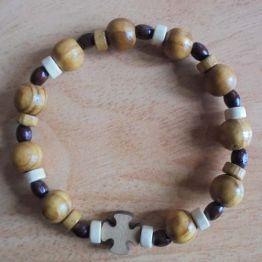 Bracelet dizainier perles bois