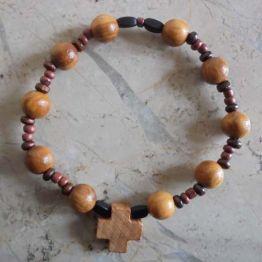 Bracelet dizainier perles olivier