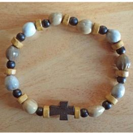 Bracelet dizainier bois et jonc