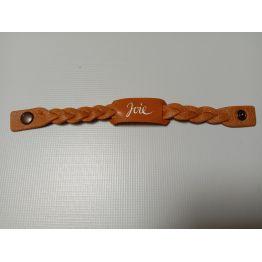 Bracelet en cuir marron clair