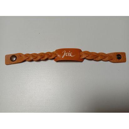 Bracelet en cuir marron clair de Petite maroquinerie