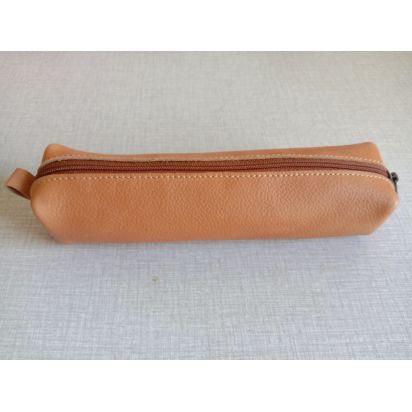 Petite trousse en cuir marron clair de Trousses & Accessoires