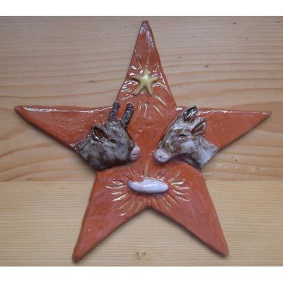bas-relief Crèche Etoile en céramique émaillée de Crèches de Noël