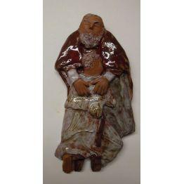 bas-relief de l'Enfant Prodigue en terre cuite émaillée de Tableaux