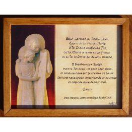 z) cadre de prière à Saint Joseph de Saint Joseph