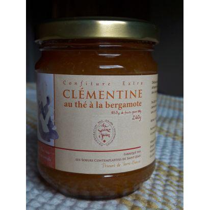 confiture de clémentine au thé à la bergamote, 240g de Confitures & Miels