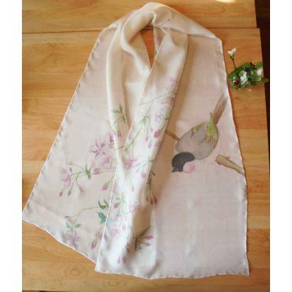 Foulard en soie Cerisier en fleurs de Bijoux & Accessoires