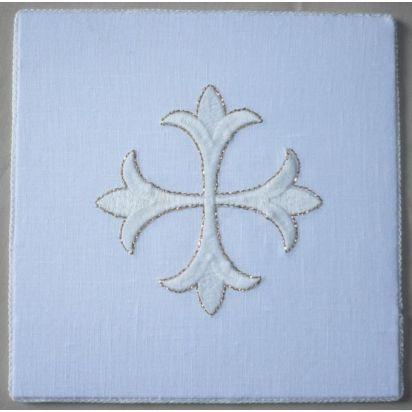 x) Pale liturgique avec broderie blanche et fil d'or de Pour l'autel