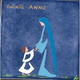 Céramique de Sainte Anne avec Marie enfant de Céramiques peintes