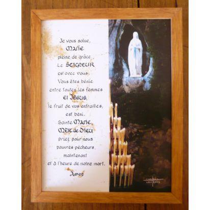 z) cadre de prière à la Vierge Marie