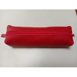 Grande trousse en cuir rouge