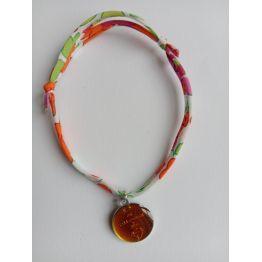Bracelet liberty orange avec médaille ND de Pellevoisin de Médailles