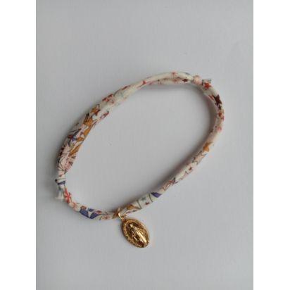 Bracelet liberty étoile avec médaille miraculeuse de Médailles