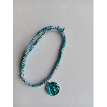 Bracelet liberty bleu avec médaille ND de Pellevoisin de Médailles