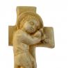 Enfant-Jésus sur croix patiné de Statues & Statuettes