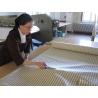 Oreiller naturel plume rayé gris format carré de Literie & Linge de lit