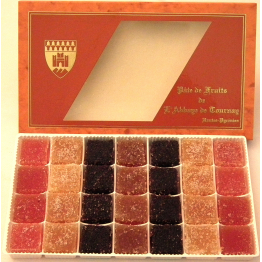 Pâtes de fruits de l'Abbaye de Tournay (boite orange) de Confiseries - chocolats