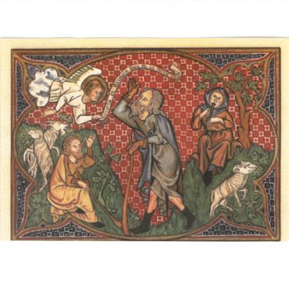 Cartes de vœux l'annonce aux bergers de Noël