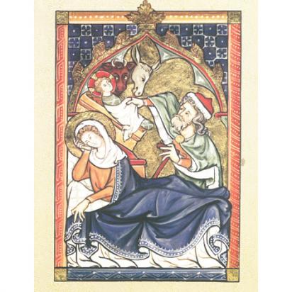 Carte de vœux Nativité de Noël
