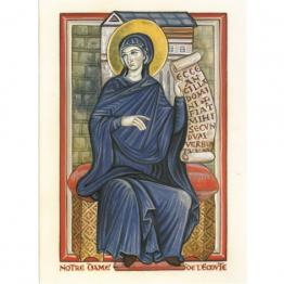 Carte de vœux Notre Dame de l'Ecoute de Enluminures