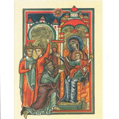 Cartes de vœux adoration des mages de Noël