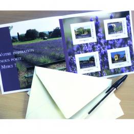 carnets de 4 timbres de l'Abbaye Notre Dame de Fidélité